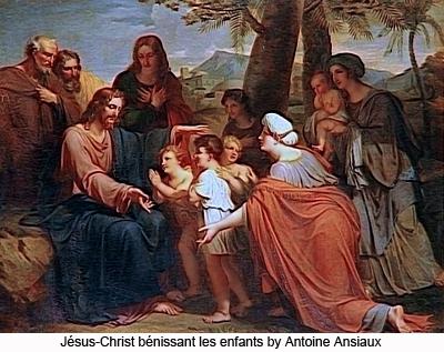 MÉDITATIONS CHRÉTIENNES POUR TOUTE L`ANNÉE - Pere Buse`e - Cie de Jésus - année 1708 Antoine_Ansiaux_Jesus_Christ_benissant_les_enfants_4001