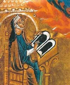 Hildegarde de Bingen écrivant