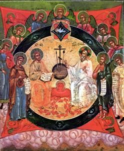 19_Icone Russe_La trinité catechese.free.frListeImages.htm La Trinité Jn 20 Russie, 19s